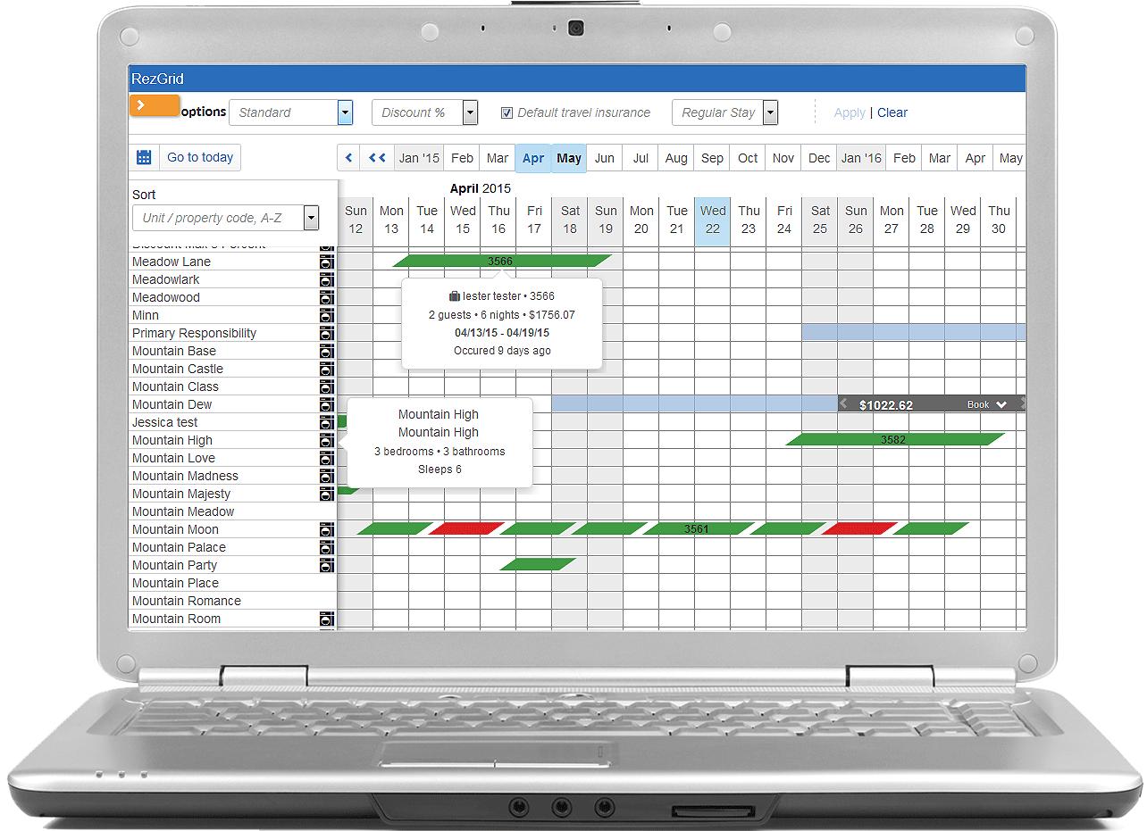 V12 Reservation Grid